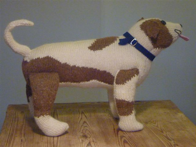 Battersea Dogs Home Knitting Pattern Dog Coat : KNITTED STAFFIE FOR BATTERSEA DOG S HOME Muir & Osborne
