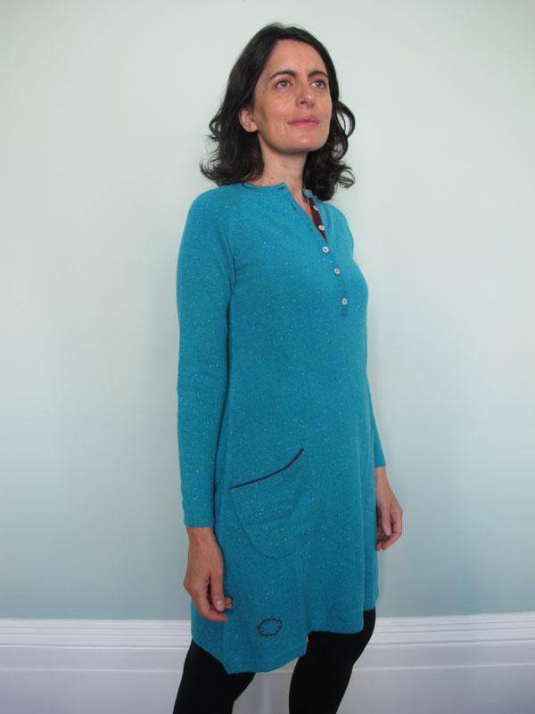 a638f5b19c44 Henley Cashmere Dress in Aqua Fleck – Muir & Osborne