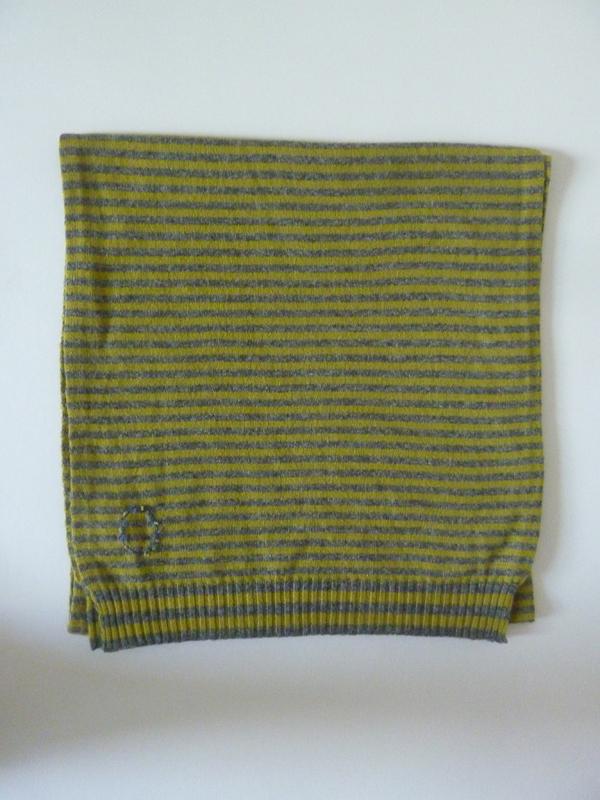 Striped Cashmere Scarf in OchreToast